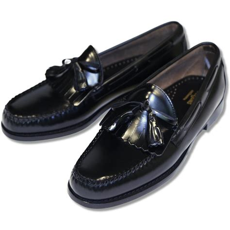 bass weejun loafer bass weejuns league leather bow tassel fringe layton