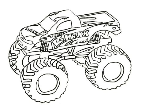 Printable Coloring Pages Trucks | free printable monster truck coloring pages for kids