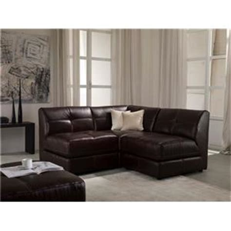 chateau d ax leather sectional chateau d ax u745 leather 3 piece modular sectional sofa