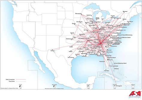 delta destination map delta connection atlantic southeast airlines route map