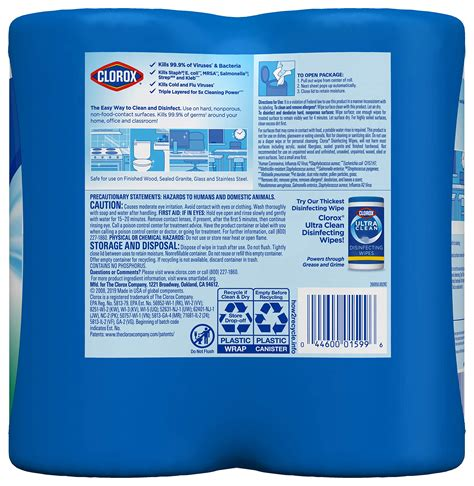 clorox disinfecting wipes  pack bleach  cleaning wipes  count  pack