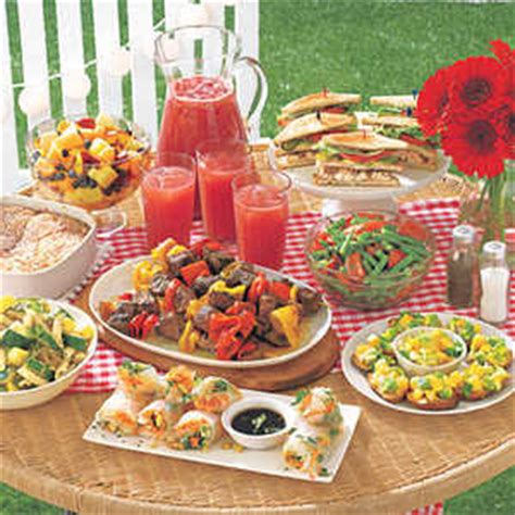 backyard party menu ideas backyard beach party menu myrecipes