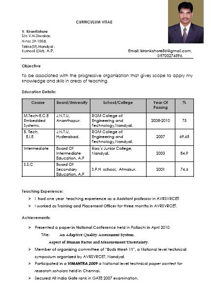 Resume Sles For Teaching Fresher Welcome To S Sle Resumes