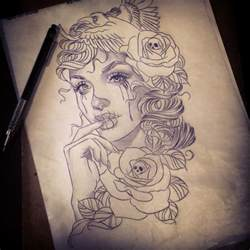 nice stencil design of catrina tattoo golfian com