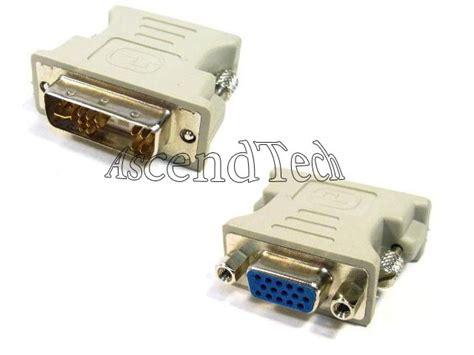 Adapter Sambungan Konektor Vga 15 Pin To I2373 dvi to vga connector dvi a to vga 15 pin d sub adapter