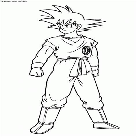 imagenes de goku para colorear dibujos sin colorear dibujos de goku dragonball z para