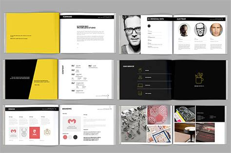 book layout template pdf modern portfolio booklet 36 pages brochure templates