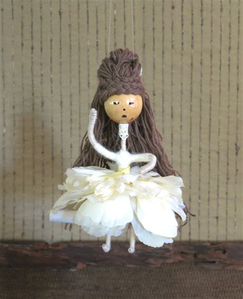 doll wire wire flower doll babies nursery mobile shower gift