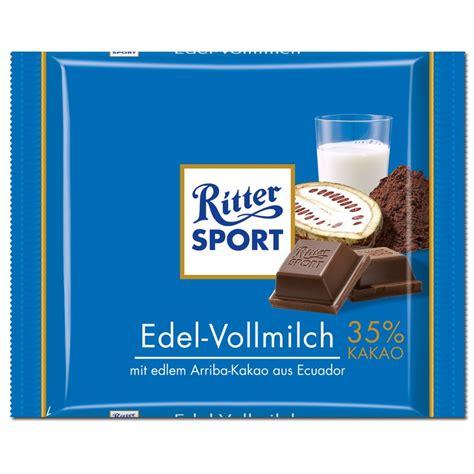 Ritter Sport Edel Vollmilch Schokolade 100g 5 Tafeln