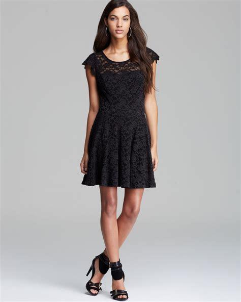 Black Florist Magda Lace Dress Bt53 lyst guess dress floral lace in black