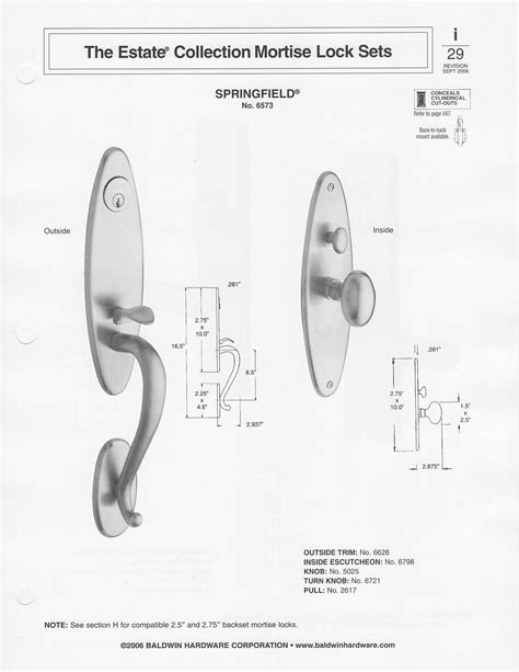 baldwin mortise lock diagram baldwin colonial style solid brass handle set springfield