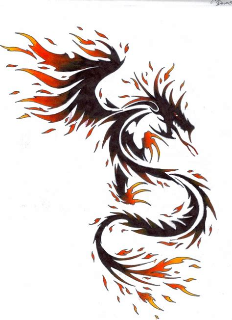 dragon with fire tattoo designs tattoos designs www imgkid the image