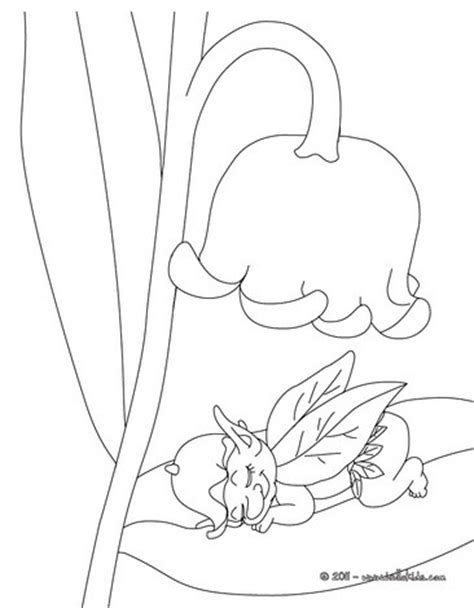 lily of the valley and fairy coloring pages hellokids com