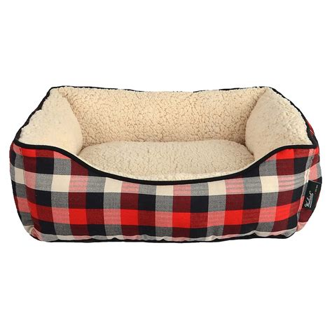 plaid dog bed woolrich buffalo plaid cuddler dog bed 20x18