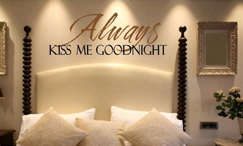 love night in bedroom vinyl wall quotes bedroom quotes love quotes kiss me