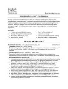 Company Sle Resume by Business Developer Resume Template Premium Resume Sles Exle