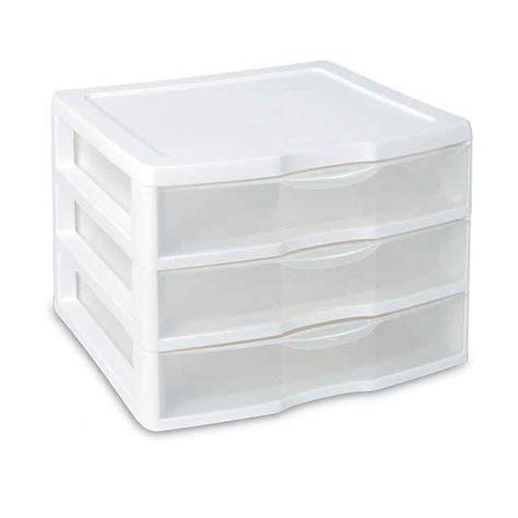 sterilite clearview 3 drawer white storage unit set of 3
