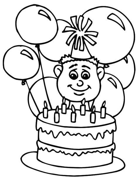 coloring pictures of birthday cakes and balloons coloring pictures of birthday cakes and balloons
