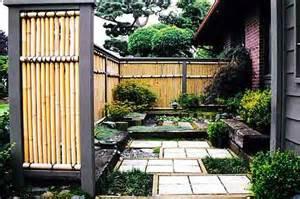 japanese zen garden bamboo fence