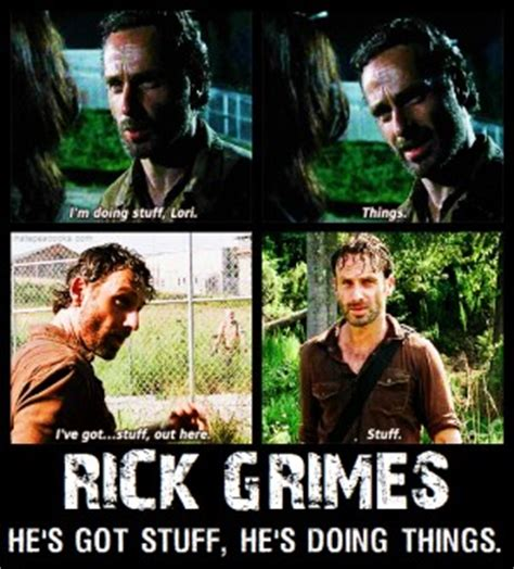 Stuff And Things Meme - rick and daryl quotes quotesgram