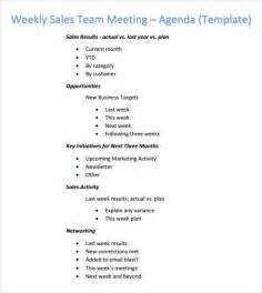 weekly agenda template 6 free for pdf word