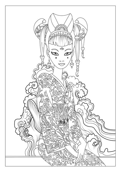 anti stress coloring book japan japan coloring pages for adults coloring page adults