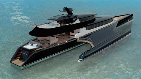 catamaran cost new blue coast yachts unveils 60m power trimaran yacht harbour
