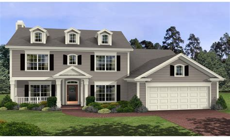 One Story Colonial House Plans by One Story Colonial Homes 2 Story Colonial House Plans