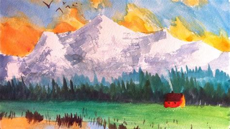 paint this mountain watercolor painting in 3 easy steps udemy