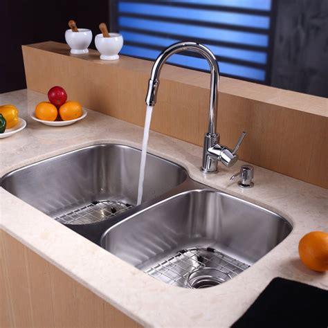 kraus 32 inch undermount sink kraus kbu24kpf1622ksd30sn 32 inch undermount bowl