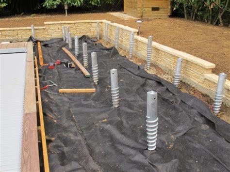 Plan Terrasse Bois Sur Plot Beton 2535 by Plan Terrasse Bois Sur Plot Beton 4 R233alisation De
