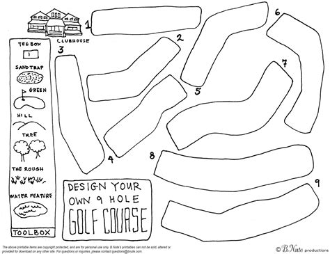 bnute productions free printable design your own 9 hole