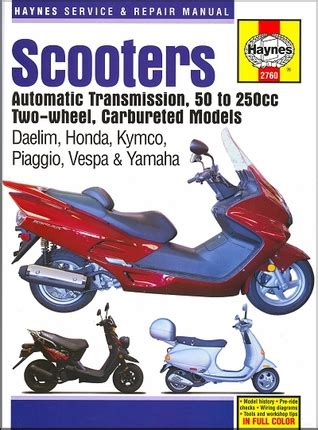 motor scooter repair scooter repair manual daelim honda kymco piaggio