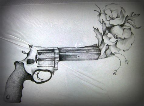 tattoo flower gun gun flower tattoos picture