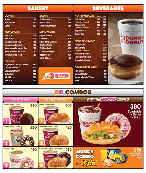 menu dunkin donuts dunkin donuts