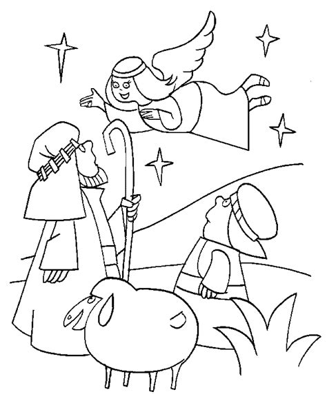 coloring pages christmas shepherds good news of great joy coloring page