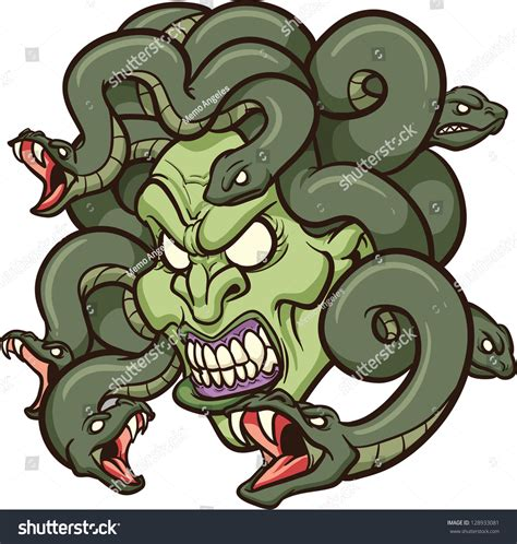 medusa clipart medusas vector clip illustration stock vector