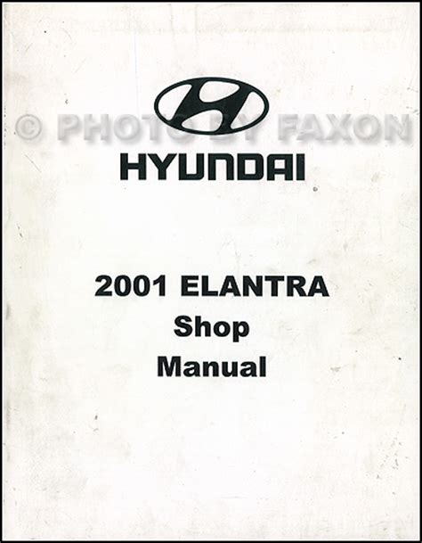 car repair manuals download 2001 hyundai elantra on board diagnostic system 2001 hyundai elantra repair shop manual original