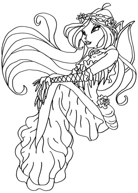 Printable Coloring Pages by Free Printable Winx Club Coloring Pages For