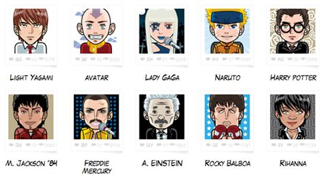 10 Fictional Characters To Follow On by Create Avatars With Faceyourmanga 171 Web Appstorm
