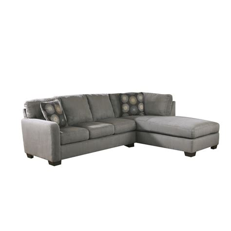 ashley 2 piece sectional ashley zella 2 piece sectional in charcoal 70200 66 17 kit