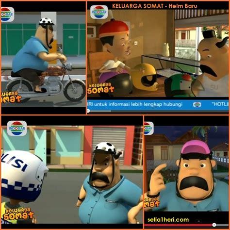 film kartun anak dudung belajar pake helm dari keluarga somat safety riding