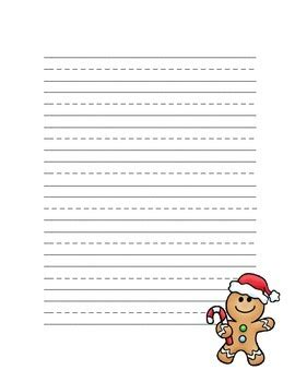 Gingerbread Writing Paper Template