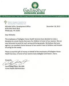 Charity Christmas Letter Christmas Gallagher Home Health Services