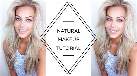 tutorial makeup natural pac natural makeup tutorial chloe boucher youtube