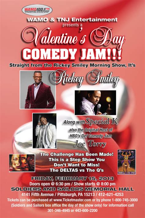 valentines day comedy wamo tnj entertainment presents a s day comedy