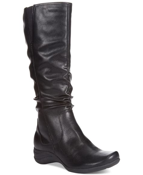 hush puppies womens feline alternative wide calf boots in