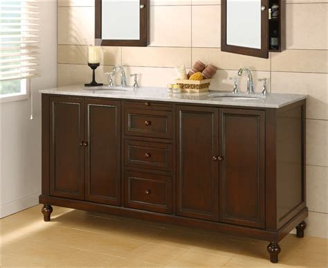 Bathroom Vanities With Two Sinks J J International 70 Quot Classic Sink Vanity Cabinet With White Marble Top