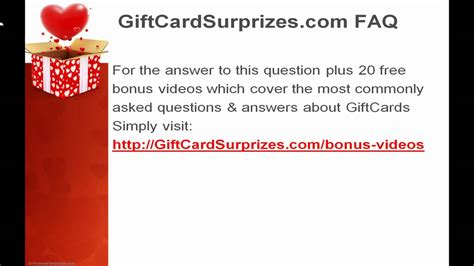 gift card faq what happens if i lose my gift card or it gets stolen answer youtube - What Happens If I Lose A Gift Card
