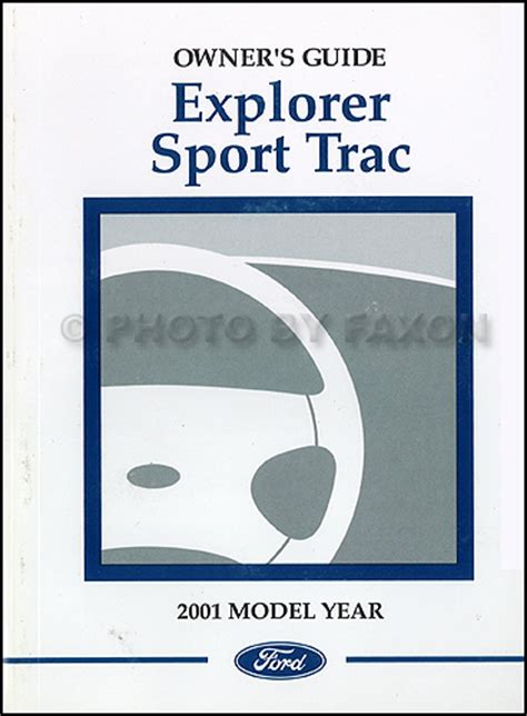 online service manuals 2001 ford explorer sport auto manual 2001 ford explorer sport trac owner s manual original